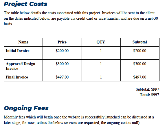 Simple Website Development, Design, and launch pricing