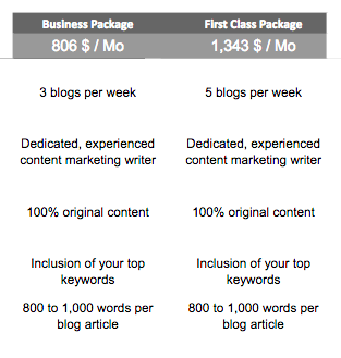 Blog Article Writing packages